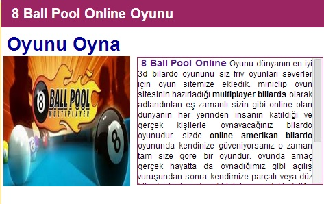 8 Ball Pool Online Oyunu